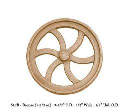 UNMACHINED FWC-S12B Bronze  Flywheel Aprox 31/2 Dia x 1/2 W X 1/2 Hub Dia